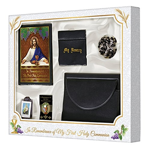 My Body, My Blood First Commuion Set with Leatherette Wallet for Boys Boys First Communion Set