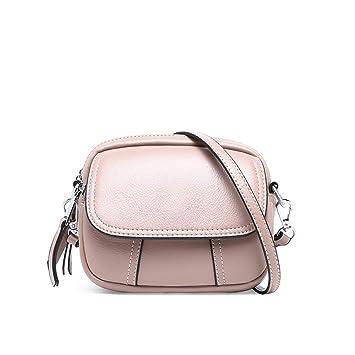 55fd33c313842 RFVBNM Leder Kleine Tasche Mini-Handtasche Kleine Runde Tasche  Umhängetasche Umhängetasche