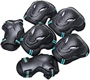 Thickened Roller Skate Protection Gear Set, Knee Pads Elbow Pads Wrist Guards for Multi Sports Skateboarding I