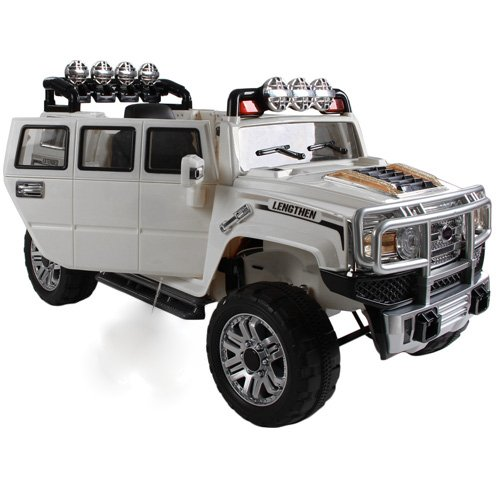 Exclusive Edition 12V Hummer Off-Road Style Ride On Jeep with Remote Control + MP3 + Opening Doors - Hummer H3 Ride On