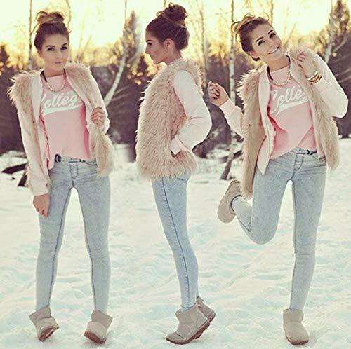 Pandaie Jacket,Women Faux Fur Ladies Sleeveless Vest Waistcoat Jacket Gilet Shrug Coat Outwear by Pandaie (Image #1)