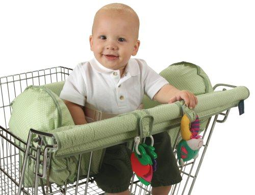 [해외]Leachco Prop 'R 구매자 쇼핑 바구니 덮개, 녹색 점 점/Leachco Prop `R Shopper Shopping Cart Cover, Green Pin Dot?