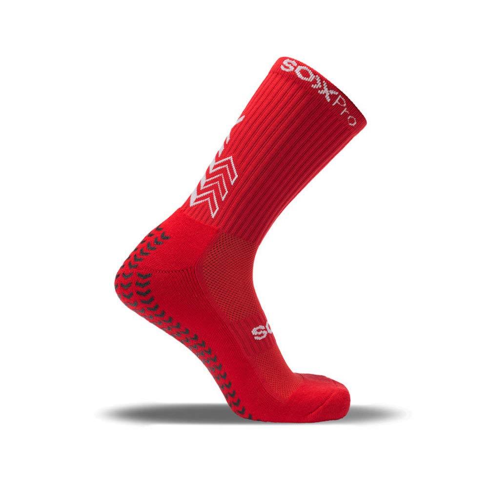 Medium 41-46 SOXPro Calze Grip /& Antislip Rosso