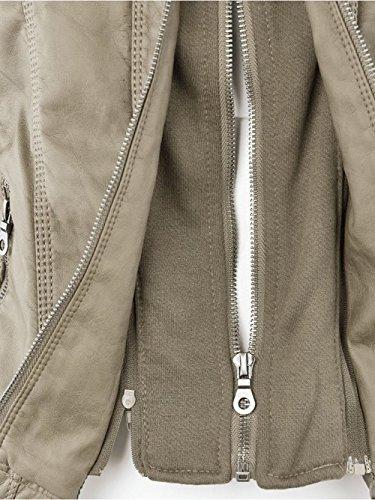 Blouse Femmes FANTIGO cuir Hiver Veste Faux en Automne C0wrCdq