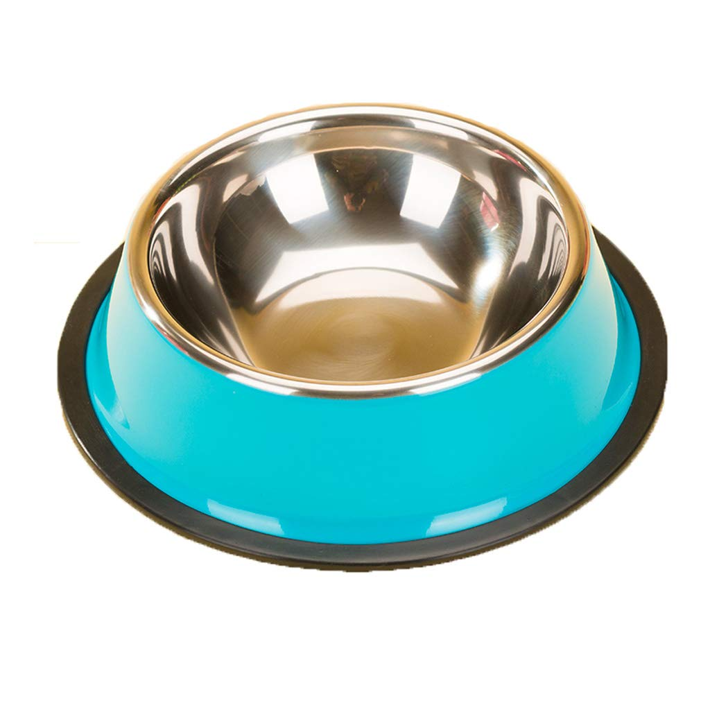 M 17.94.5cm Creative Cat Basin and Dog Bowl Drinking Water Bowl Fashion Pet Supplies Simple Stainless Steel Food Bowl (Size   M 17.9  4.5cm)
