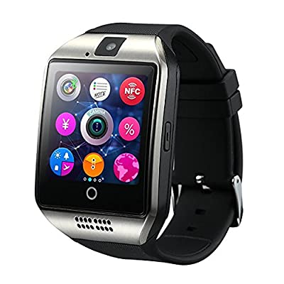 Amanstino Wireless Bluetooth Smartwatch with Camera,original Q18,tf/sim Card Slot,for Ios(partial Functions) & Android(partial Functions)