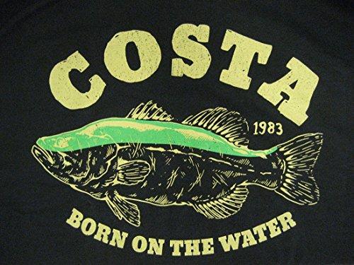 Costa Del Mar Big Bass Short Sleeve T-Shirt, Black, - Costa Pro Sunglasses Bass