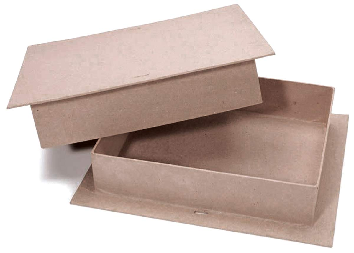 Darice Paper Mache Rectangle Box 9 X 11 Inches (8 Pack)