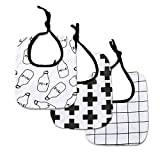 Modesoda Baby Strap Infant Drool Bandana Bibs Burp Cloths 3-Pack
