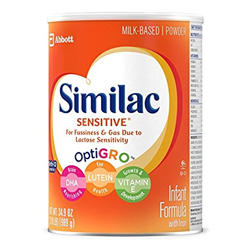 Similac Sensitive Infant Formula with Iron, Powder, One Month Supply, 34.9 ounces (Pack of 3) by Similac (Image #7)