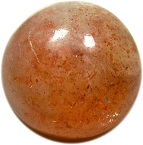 12x4.5 mm Natural Sunstone Cabochon Gemstone Orange color Round shape Ring size 4.55 Cts.