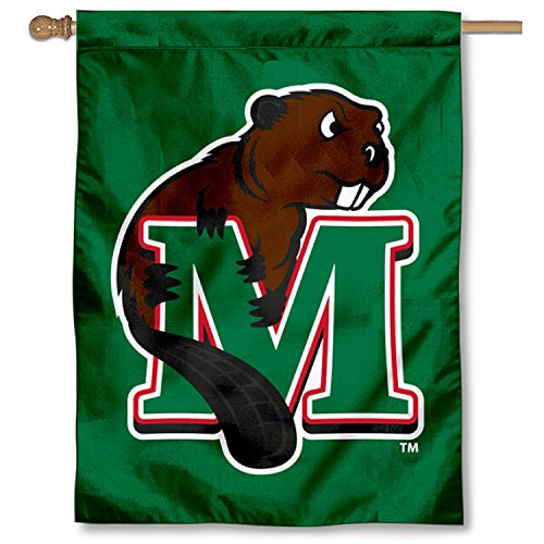 College Flags and Banners Co. Minot State Beavers Double Sided House Flag by College Flags and Banners Co.