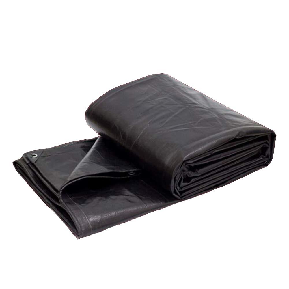 DALL ターポリン タープ 引き裂き抵抗 耐寒性 サンシェード アウトドア 耐火布 180g /㎡ (色 : ブラック, サイズ さいず : 10×10m) 10×10m ブラック B07KZVZVRN