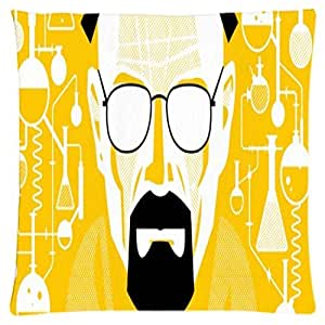 Breaking Bad Heisenberg ~ Durable Unique Throw Square Pillow Case 18X18 inches Fashionable Diy Custom Personalized Pillowcase Design by Engood