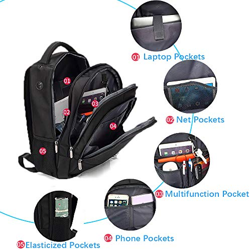Waterproof Laptop Backpack for Women Men Fits 15.6 Inch Laptop and Notebook