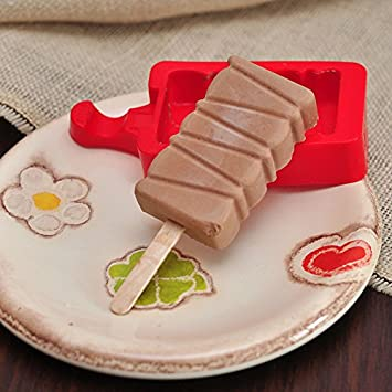 Moldes de silicona y cubeta para hacer helados caseros, con paletas y accesorios: Amazon.es: Informática