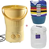 Growsun 5 Gallon Mini Bubble Washing Machine With 5-Gallon 8-Bag Bubble Bags and 5-Gallon 220 Micron Zipper Wash Bag For Herbal Ice Hash Extraction Kit