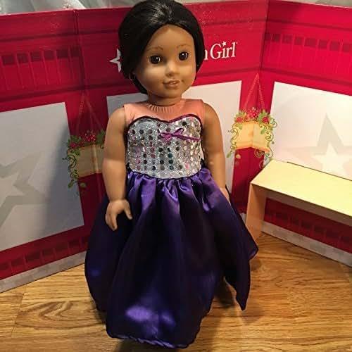 Josefina Birthday Dress: Amazon.com: Handmade Doll Dress Fits American 18 Inch Girl