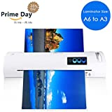 "13"" Thermal Laminator for A6/A4/A3, Laminating Machine with Two Roller System and Jam-Release Switch, Automatic Shut Off Function, Fast Warm-up, for Home, Office and School (Laminator A3 - White)"