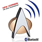 Star Trek Next Generation Bluetooth Communicator Badge - TNG Bluetooth Combadge with Chirp Sound Effects, Microphone…