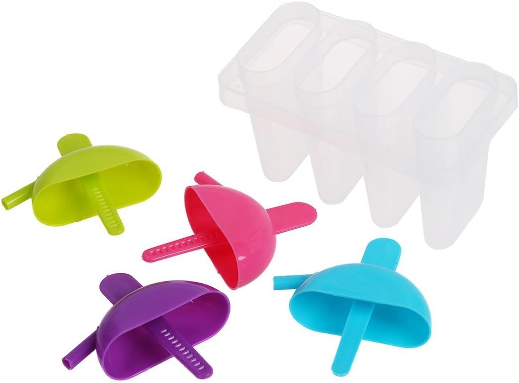 Beauneo Set Frozen 4 Ice Popsicle Lolly Maker Mould Mold Kitchen DIY