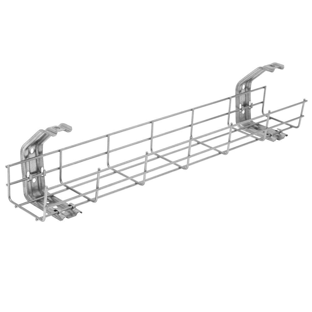 600mm Under Desk Cable Basket Tray + 2 Mounting Brackets Olson Electronics BTD600