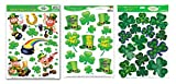 St Patricks Day Window Clings Leprechauns/Shamrocks Party Decorations 3 - Large (12 x 17 Sheets)