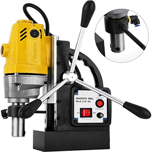 Mophorn 1100W Magnetic Drill Press with 1-1/2 Inch (40mm) Boring Diameter MD40 Magnetic Drill Press Machine 2810 LBS Magnetic Force Magnetic Drilling System 670 RPM Portable Electric Magnetic Drill