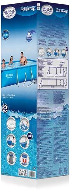 Bestway 8321265 Piscina Rectangular con Depuradora 300x200x66 cm ...