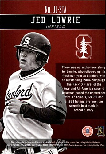 2015 Panini Stanford Honors Silver #176 Jed Lowrie //99 NCAA Trading Card