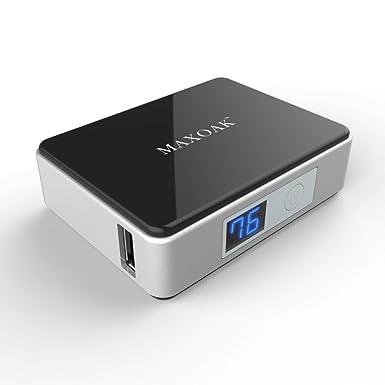 MAXOAK Mini Cargador Externo 5200 mAh Power Bank con LED ...