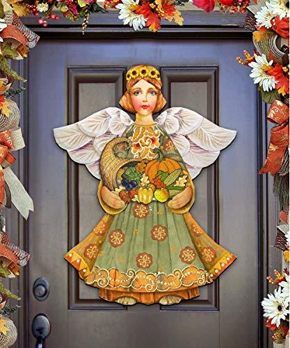 Thanksgiving Decor - Thanksgiving hostess gift - Thanksgiving Fall Angel Decorative Holiday Door Decoration, Wall decor #8155232H]()
