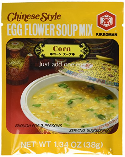 Egg Flower Soup - Kikkoman Chinese Style Egg Flower Soup Mix, Corn Flavor, 1.34 Ounce