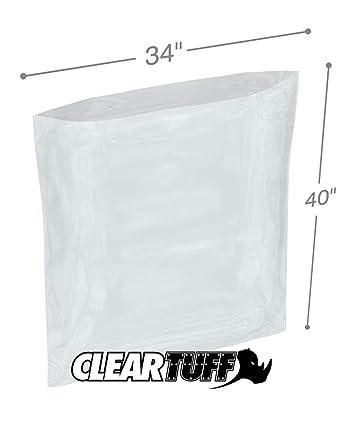 Cleartuff - Bolsas de polietileno planas de 34 x 40 pulgadas ...