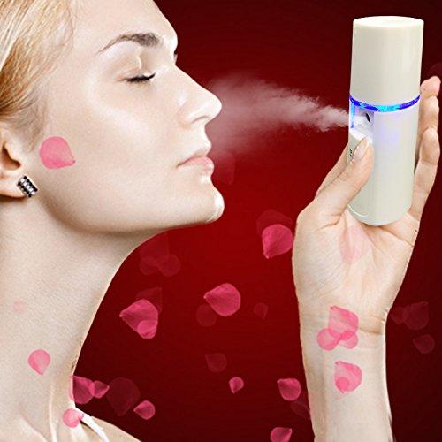 Dr.E Beauty Rechargeable Sliding Nano Facial Steamer - Ha...