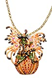 Kirks Folly Circe Fairy Witch and Magic Pumpkin Pin Necklace ~ NEW RELEASE ~ goldtone