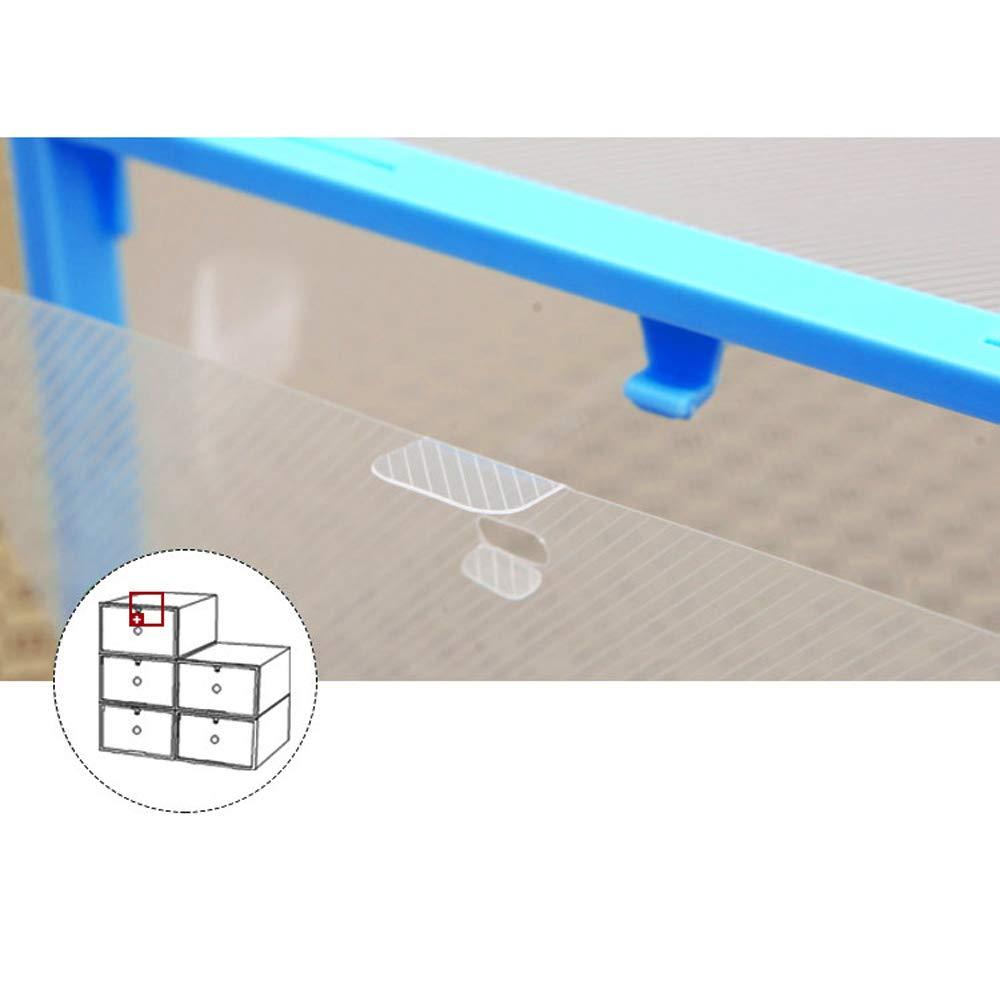 Sinbide 10/Caja de Zapato pl/ástico Funda Caj/ón Almacenamiento almacenaje Mueble Organizador