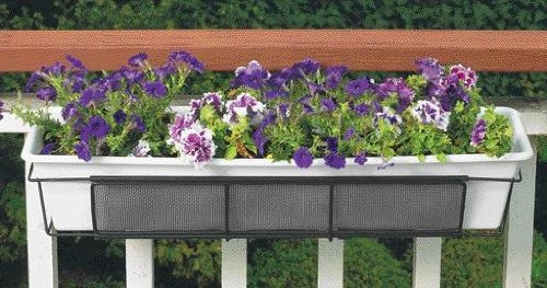 CobraCo 24-Inch to 36-Inch Black Adjustable and Expandable Flower Box Holder F2436-B ()