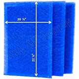 MicroPower Guard Replacement Filter Pads 22x25 Refills (3 Pack) BLUE