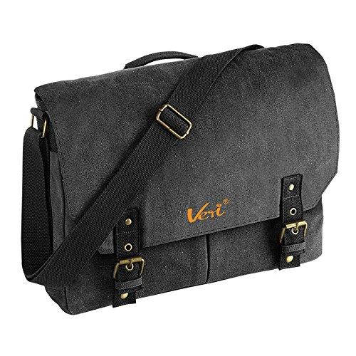 Coole Vintage Umhängetasche für Studenten Männer Tasche Retro Studententasche Messenger Bag Reisetasche Unitasche Veri Logo