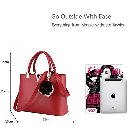 de printemps casual sac Yellow rouge sac tendance femmes minimaliste de main pour à vin la bandoulière mode Nicole les amp;Doris à nouvelle 4q64wS