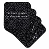 3dRose Sex is Part of Nature. I Go along with Nature Marilyn Monroe Quote - Ceramic Tile Coasters, Set of 4 (cst_162253_3)