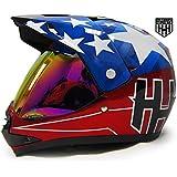 HHH DOT Youth Helmet for Dirtbike ATV Motocross MX Motorcyle Helmet with VISOR