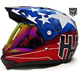SmartDealsNow DOT Youth & Kids Helmet for Dirtbike ATV Motocross MX Offroad Motorcyle Street bike Helmet (Medium, USA)