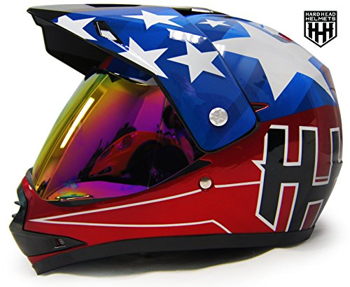SmartDealsNow - HHH DOT Youth & Kids Helmet for Dirtbike ATV Motocross MX Offroad Motorcyle Street bike Snowmobile Helmet with VISOR (Large, USA)