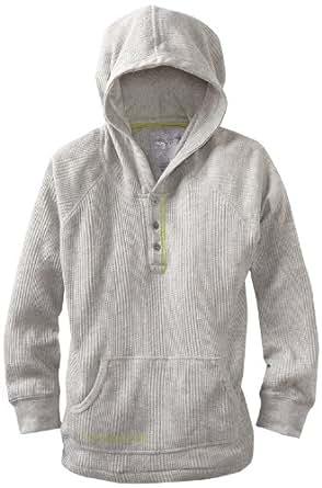 Calvin Klein Big Boys' Thermal Pullover Hoodie, Iron Grey, Large