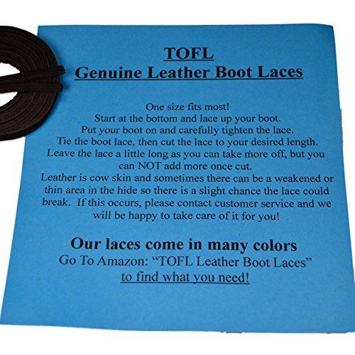 Cordones De Bota De Cuero Tofl - Talla Fácil Corte En Forma Negra