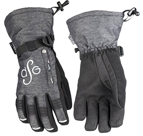 DSG Outerwear Women's Lily Gloves (Black, X-Large) (Heather) (Dive Stretch Glove)