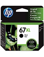 Original HP 67XL Black High-yield Ink Cartridge | Works with HP DeskJet 1255, 2700, 4100 Series, HP ENVY 6000, 6400 Series | Eligible for Instant Ink | 3YM57AN