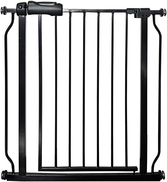 WYSFHL Puertas de Seguridad for Mascotas, Puerta de Escalera de Seguridad, Puerta de Seguridad Negra, tapón de Puerta de Seguridad, Ajuste a presión, sin perforación Adecuado for 74 a 97 cm: Amazon.es: